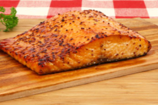 Cedar planked salmon with mustard mashed potatoess - A recipe by wefacecook.com