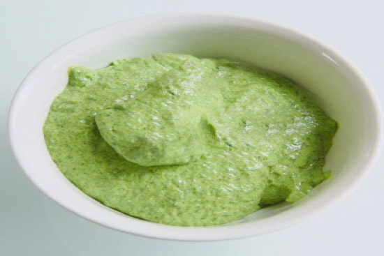 Green herb sauce for dipping asparagus - A recipe by Epicuriantime.com