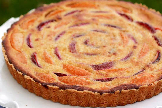 Apricot and plum tart