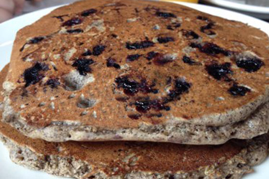 Blueberry-buckwheat pancakes - A recipe by Epicuriantime.com