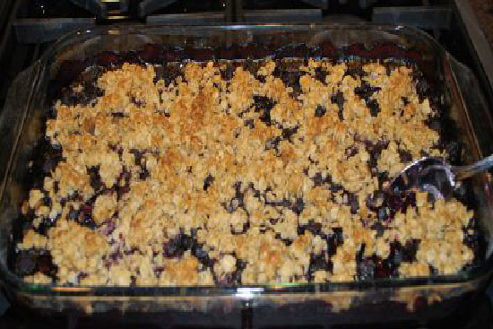 Blueberry crisp  - A recipe by Epicuriantime.com