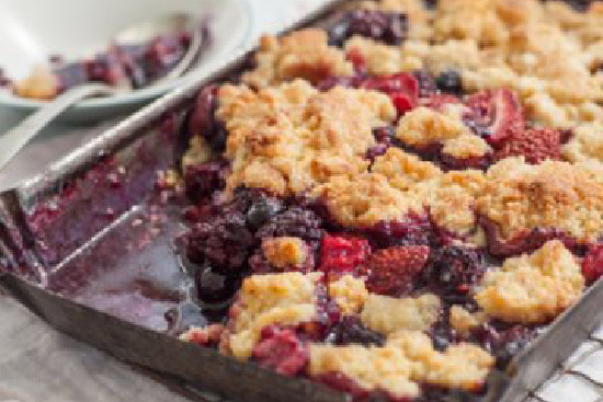 Apple and berry crisp