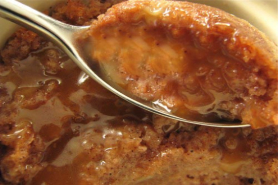 Apple bread pudding with Butterscotch Sauce