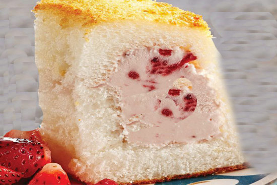 Angel food cake alaska