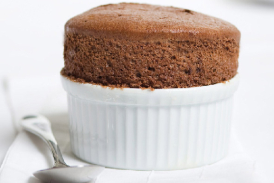 Chocolate mocha soufflé