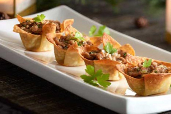 Black bean and corn wontons