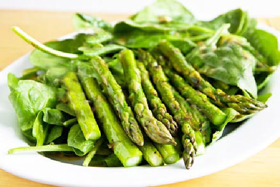 Asparagus and spinach salad