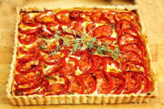 Roast tomato tart - A recipe by Epicuriantime.com