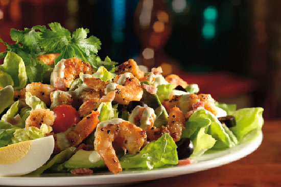 Chicken and shrimp  salad california