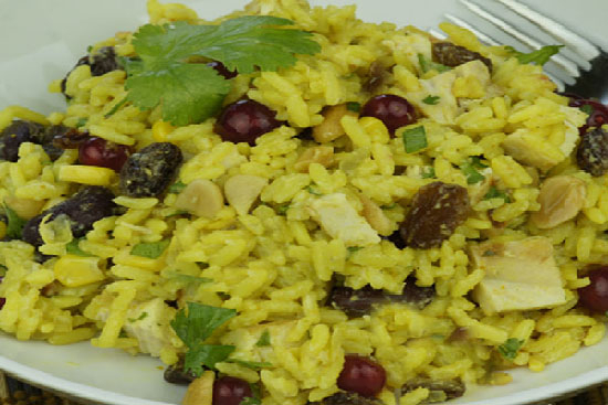 Curried chicken and rice salad - A recipe by Epicuriantime.com