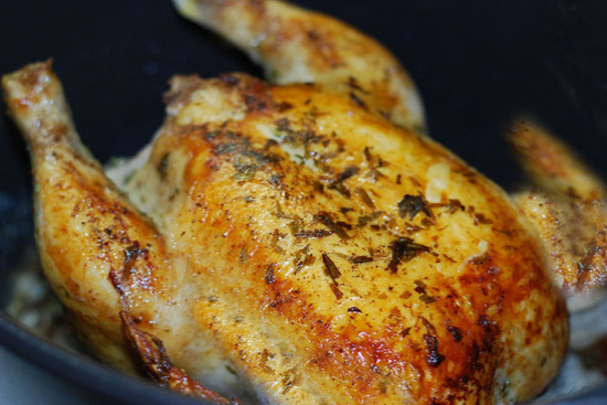 Tarragon roasted chicken - A recipe by Epicuriantime.com