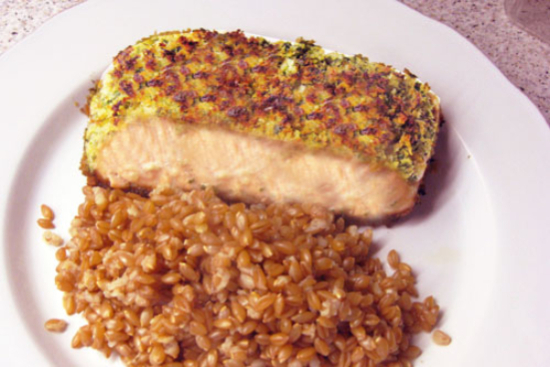 Panko-crusted salmon - A recipe by Epicuriantime.com