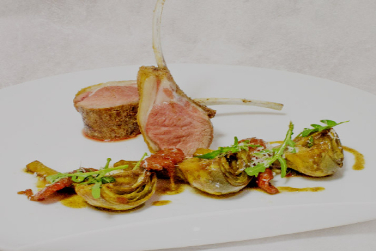 Roasted rack of lamb provencale with ratatouille - A recipe by Epicuriantime.com