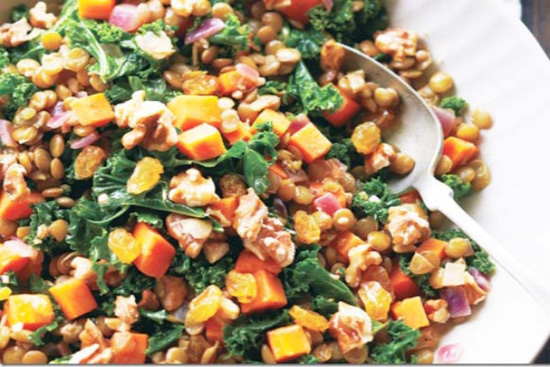 Stewed Kale and Lentils - A recipe by Epicuriantime.com