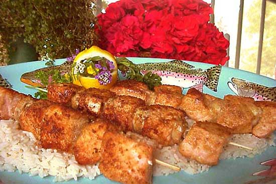 Brochettes of salmon - A recipe by Epicuriantime.com