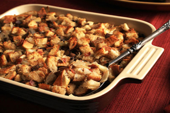 Chestnut stuffing with onion and currant - A recipe by Epicuriantime.com