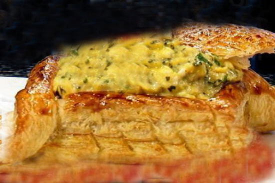 Scrambled egg feuillete - A recipe by Epicuriantime.com