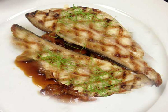 Grilled pompano with tangy ginger sauce - A recipe by Epicuriantime.com