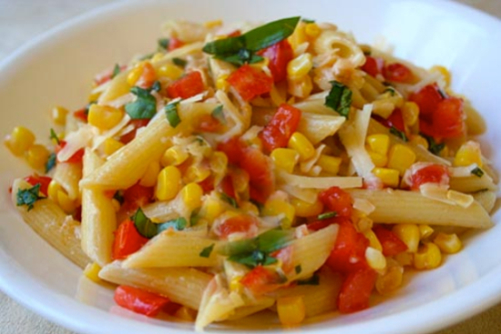 Summer corn and tomato pasta - A recipe by Epicuriantime.com