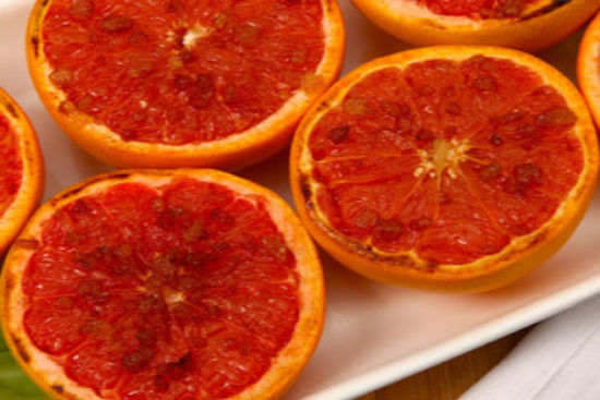 Rum-broiled grapefruit - A recipe by Epicuriantime.com