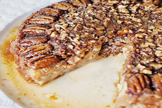 Apple praline baked brioche challah toast - A recipe by Epicuriantime.com