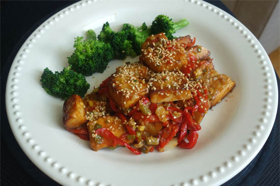 Sticky tofu stir-fry - A recipe by Epicuriantime.com