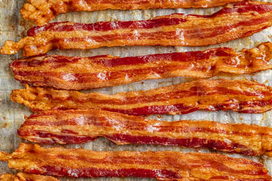 Oven-cooked bacon