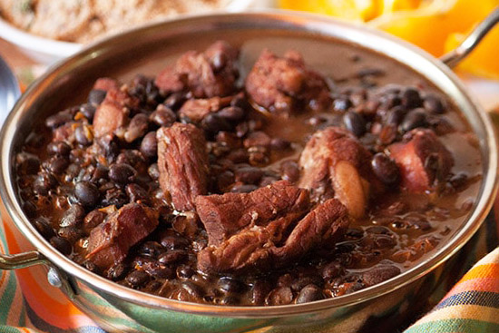 Brazilian feijoada - black bean stew